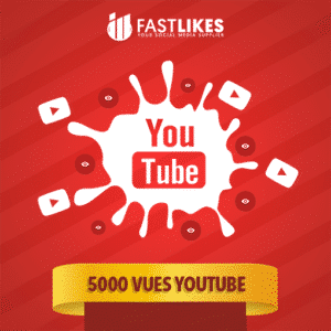 5000 VUES YOUTUBE
