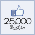 25000 likes facebook