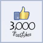 3000 likes facebook