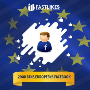 2000 FANS EUROPÉENS FACEBOOK