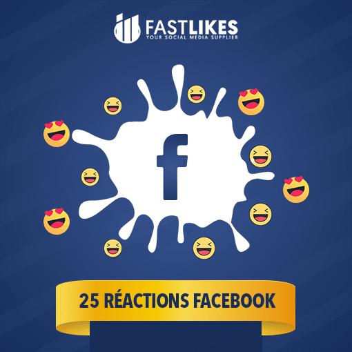 25 reactions facebook