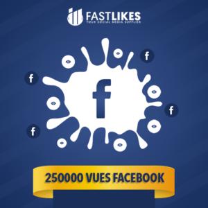 250000 VUES FACEBOOK