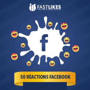 50 réactions facebook