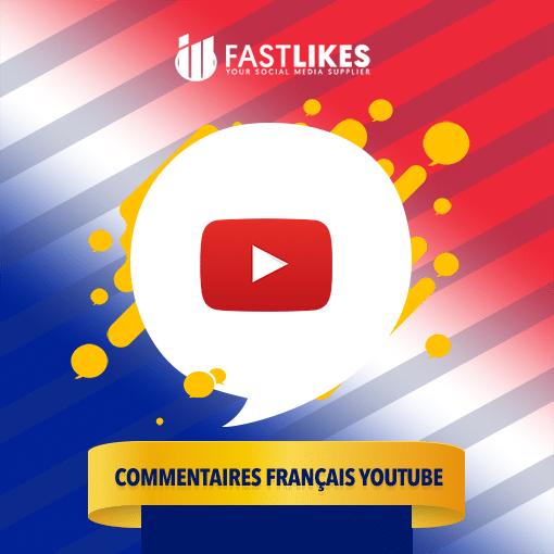 Acheter des commentaires français YouTube